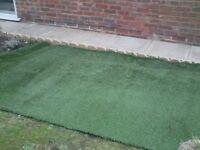 Artificial grass 179cm by 357cm £54