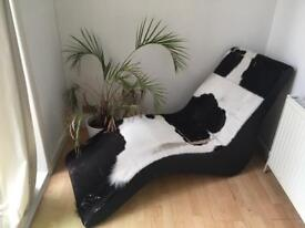 Genuine Cow hide lounge chair