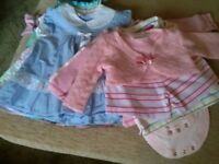3-6 months baby girl clothes bundle.