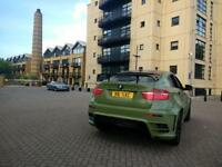 QUICK SALE BMW X6 E71 E72 MATTE ARMY GREEN AND GLOSS BLACK 3.5D AUTO REMAPPED WIDE LUMAR BODYKIT