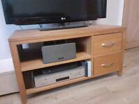 Solid Oak TV & Media Stand Including Storage