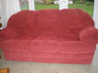 Free 3 piece red sofa