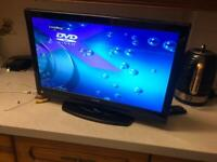 "Tv Luxor 19"" universal remote with built dvd"
