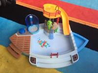 Playmobile swimming pool and slide