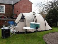 Robens Double Dreamer 4 berth tent with extension plus camping equipment