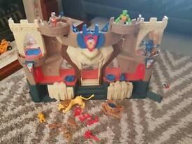 Imaginext Lion's Den Castle including figures and accessories. Excellent condition