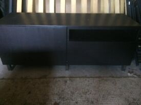 TV Table and Stand in Dark Wood