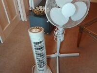 2 FANS TOWER AND PEDESTAL GREAT CONDITION NO OFFERS.