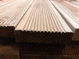decking boards treated timber Premium Grade 38x125mm BEST UK PRICE two shape