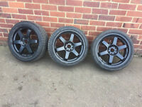 FORD FIESTA ST 17inch' ALLOY WHEELS WITH TIRES (X3) £40