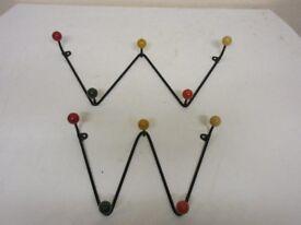 Vintage wall coat hangers