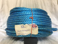 220 Mtrs Coil of 12mm Blue Poly Rope