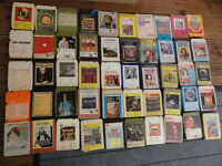 Assorted old 8 tracks tapes see photos for more details