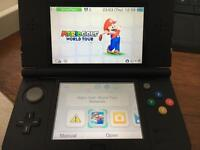 Nintendo new 3ds black with sky3ds 64gig