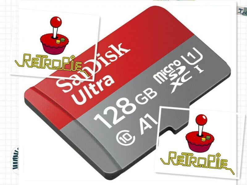 128GB Raspberry Pi 4 B fully loaded Retropie system micro SD Card 135,000+ GAMES