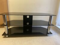 Glass TV stand - up to 60in screen.