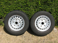 2x Ford Transit wheel rims with Continental Vanco2 tyres 215 65 15