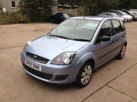 07 PLATE FORD FIESTA 1.2 STYLE 5DR 67000MILES FSH £2500