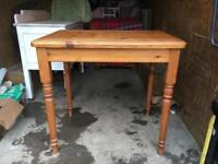 Sold pine table