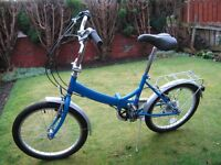 RALEIGH,MEN'S/BOYS,LADIES/GIRLS,FOLDING BIKE 6,GEARS, STAND, FRONT and REAR MUDGUARDS,REAR PANNIER