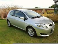 2007 TOYOTA AURIS 2.O D-4D 6 SPD 3DR MOT JULY 2017 2 KEYS SERVICE HISTORY VERY GOOD RUNNER PX WEL