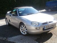 MGF SOFT TOP Silver VGC MOT Mar '18 New battery,radio/CD,seat covers, car cover,books.