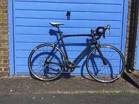 Orro Gold road bike XL/60cm in matt black with wheel upgrade and (optional) power meter