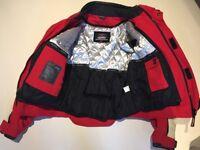 Red and white motorbike jacket Texport (unisex)