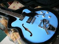 Hofner Verythin electric guitar with Bigsby Ltd re-issue in a hardcase