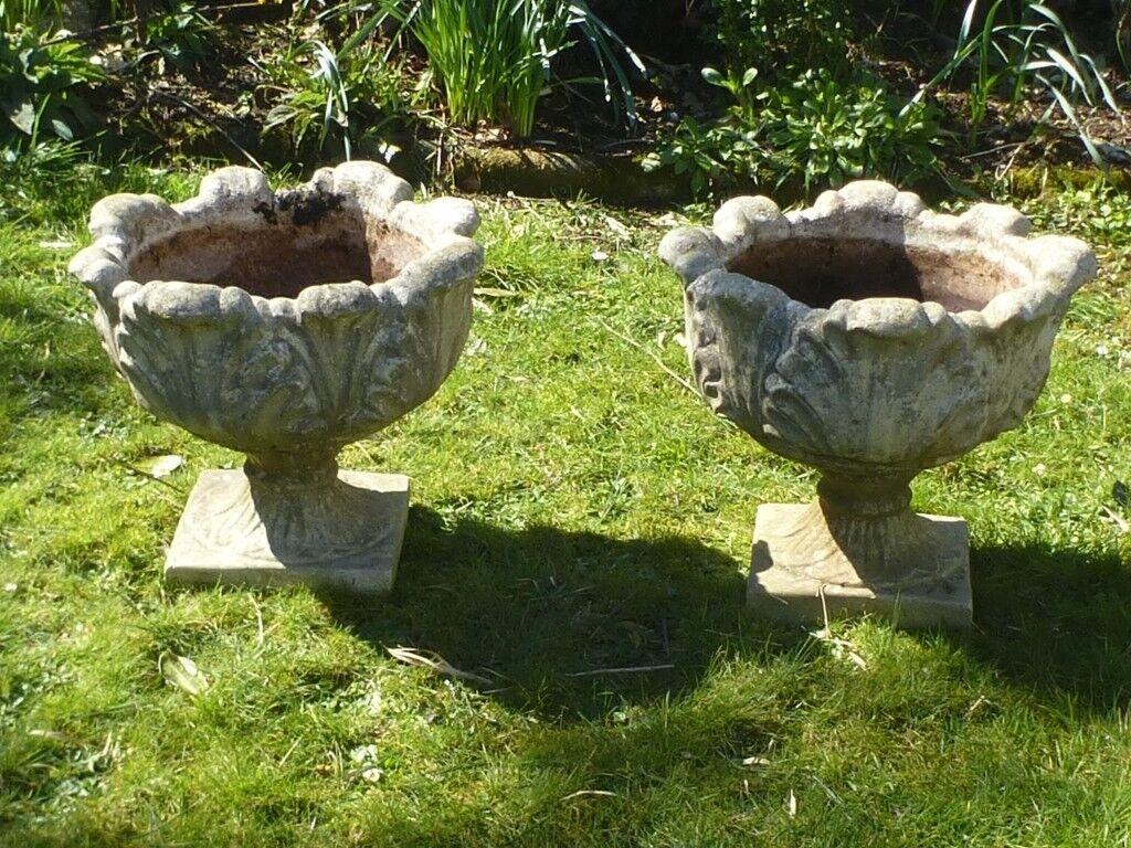 concrete french objects ouest nord planters pedestal espace antique