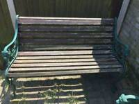 Vintage garden chair and bench
