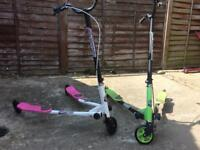Kids scooter x 2