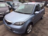 2006/56 MAZDA MAZDA2 1.4 CAPELLA,5 DOOR,METALLIC BLUE,LOW MILEAGE,LOOKS AND DRIVES REALLY WELL