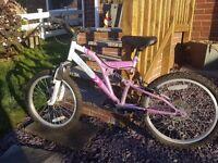 "Girls Vertigo Vesuvius 20"" bike. Excellent condition"