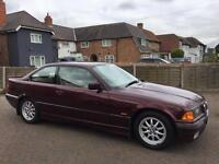 Bmw 328i coupe red , e36 with service history