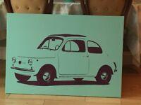Fiat 500 canvas picture