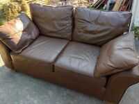 Next Leather Two Seater Sofa