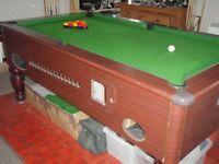 slate bed pool table 7x4