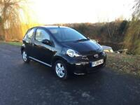 2009 Toyota Aygo Black Only 49,000 Miles, Half Leather, £20 Tax