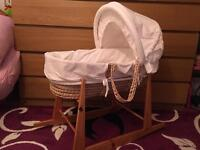 Moses basket with stand - unisex