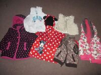 Girls coats and Body warmers from 18 months to 4 years