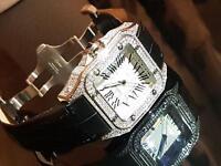 Cartier santos xl 100 Swarovski diamonds, ultimate edition