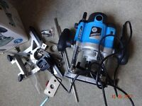 Silverline woodworking router as new unused