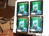 4 x 6. BATMAN FOREVER MERLIN STICKERS UNOPEDED PACKETS, YEAR 1995