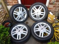 FORD FOCUS ZETEC 4 STUD 16 INCH ALLOYS TYRES NOT INCLUDED