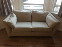 FREE marks and Spencer's 2x 2seatersbeige sofas, washable covers, good condition, very comfy!