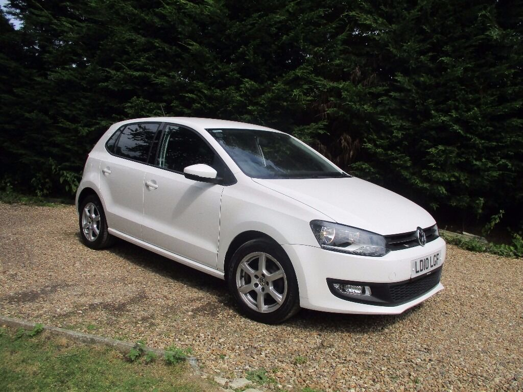2010 volkswagen polo moda 60 5 door hatchback 1 2 petrol white very nice car 1 owner from new. Black Bedroom Furniture Sets. Home Design Ideas