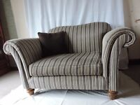 "Snuggler Chair ""Etienne"" in Vialli Striped fabric plus scatter cushion"