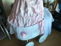 *Designer/ Reduced!* My Sweet Baby Wicker Crib