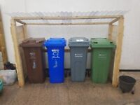 Brand new and fitted - TIMBER WEATHER BIN STORE - any loaction